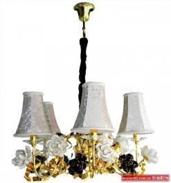 陶瓷玫瑰花灯具
