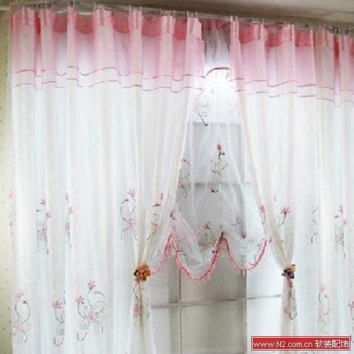 别墅双层幔头窗帘