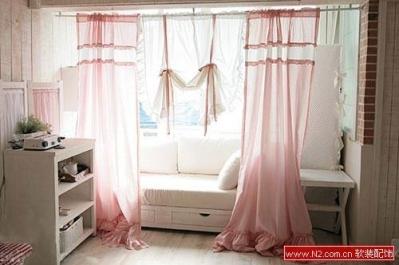 软装配饰——5款韩式粉色窗帘