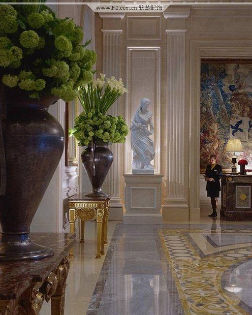欧式豪华法国巴黎四季酒店软装设计