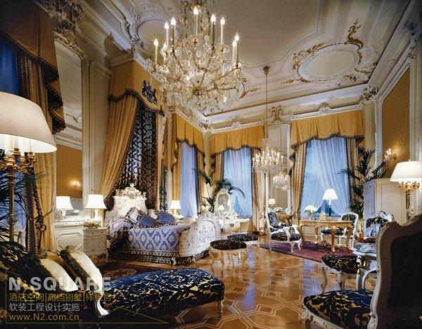 欧式宫廷风格五星级豪华酒店软装设计
