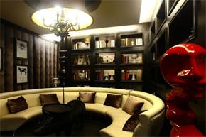 迷眼青花瓷 黑色古典餐厅软装设计