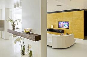 现代简洁公寓软装饰设计案例