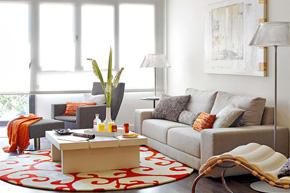 明亮橘黄loft风格房样板软装案例