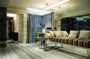 横纹直线元素 现代时尚样板房软装设计