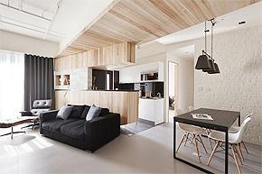 不规则多面体造型家装 开放性样板房尽显现代感