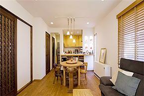 弥漫的日式和风 82平方小户型木居设计