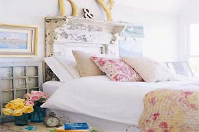 崇尚自然淡雅 田园格调卧室软装的气质朴风