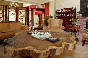集百家大气 中式实木别墅软装设计