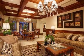 古典美式乡村别墅软装设计