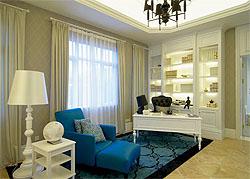 怀念海岛的蓝 新古典别墅软装设计