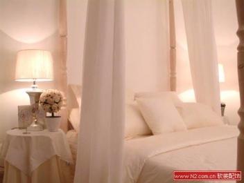 米色软装配饰设计床品