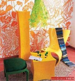 家居潮流 趣味手绘墙作品