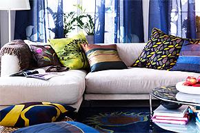 色彩布艺融入生活 引起家居时尚风潮