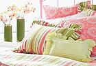 软装用到的花卉布艺床品