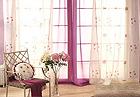 紫色浪漫窗帘配饰