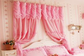 超粉嫩色调窗帘 打造梦幻的公主房