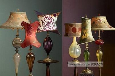 软装设计中古典艺术台灯巧结合
