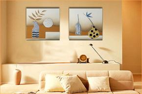 创意抽象皮画家饰 让墙面不孤单