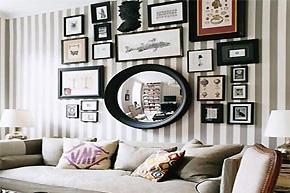 个性的影像堆积 形象装饰画营造的高雅沙发区