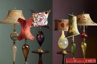 软装饰中的独特艺术台灯