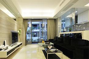 高贵华丽的黑白简约样板房软装案例