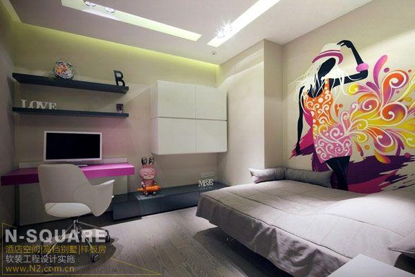 檀木皮革特色现代公寓样板房