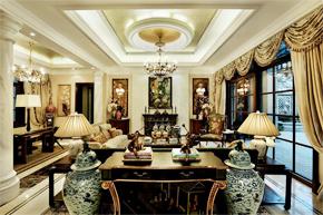 古典别墅软装饰下的中式影子