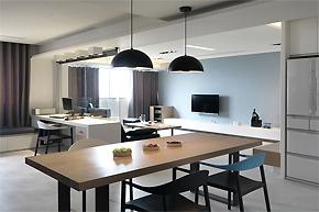 清新天蓝色调样板房设计案例
