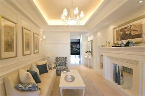 唯美纯白的世界_欧式两居室样板房设计