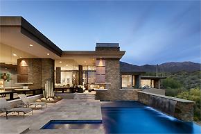 独特阶梯式设计_美国沙漠主题别墅设计