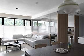 轻盈动线美感_140平台湾简洁样板房设计