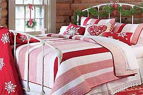 喜庆素雅两相宜_圣诞节床品打造浪漫卧室