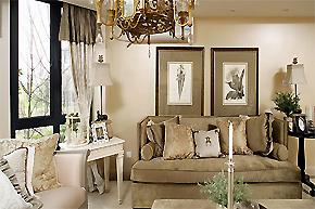 清新宜人奶白色_简欧风格样板房设计