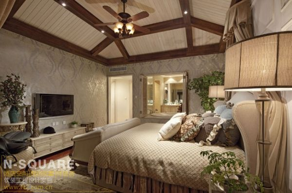 美式乡村风格兰乔圣菲别墅软装设计图片