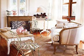 布置田园风格客厅享受满满自然韵味
