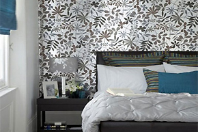 神奇蓝色魔力点缀静谧卧室空间