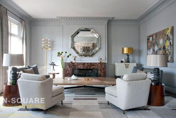 清新的纯净天堂_法式风格样板房设计图片