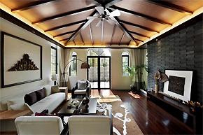 原始自然的东南亚风格别墅软装