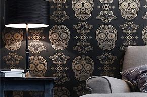 8款浓墨重彩壁纸铺排家居个性魅力