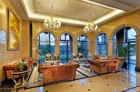 吴江市炜华·欧洲城售楼处的新古典风格的设计案例
