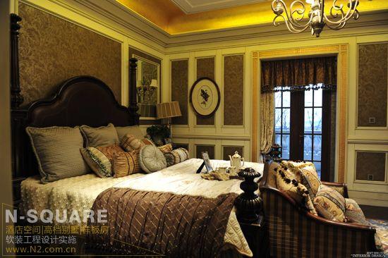 这是面积约820平方米的四居法式别墅装修样板房,法式风格的别墅软装.图片