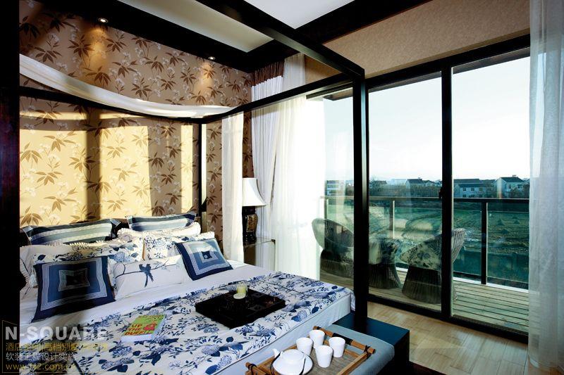 句容市茅山美加·东部假日的现代中式别墅样板房软装