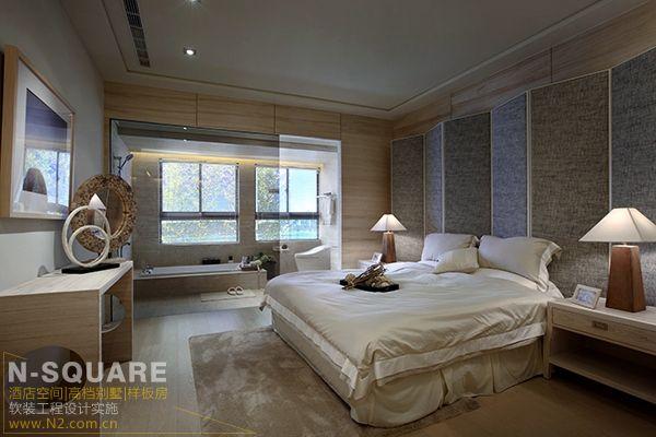 台湾新竹市现代中式风格样板房软装(原石朴庄)