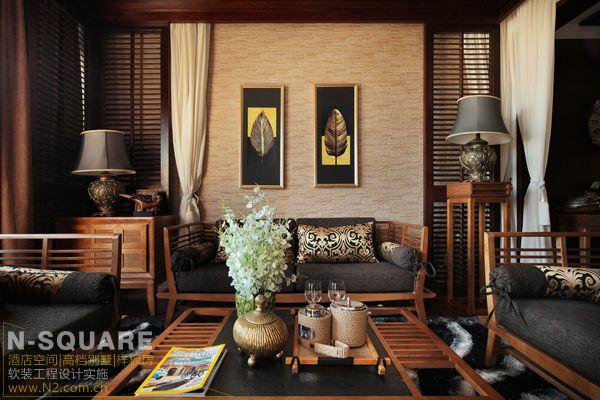 云南的一个东南亚风格的别墅软装案例