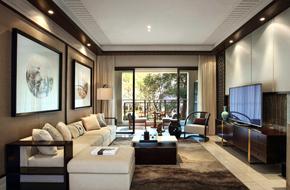 惠州150平米的新中式风格样板房软装