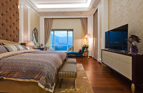 深圳银湖欧式风格的别墅样板房软装
