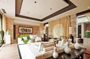 成都中式大院里的东南亚休闲风情别墅样板房