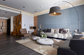 台湾的165平米现代住宅软装