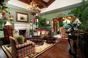 用对比色来诠释的美式古典住宅